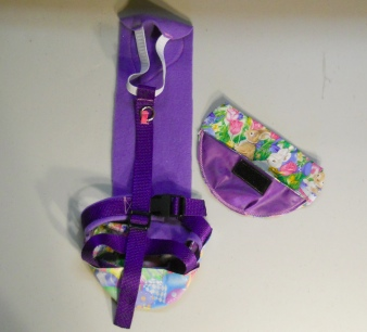 Purple Easter Goose Diapers Holder Harness
