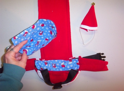 Santa Goose Diaper Holder